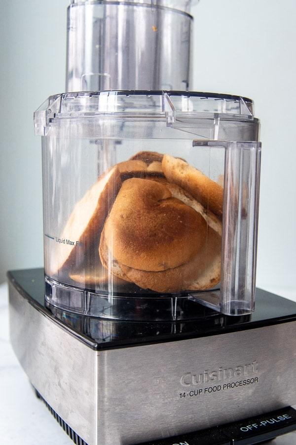 gluten free bread in a food processor