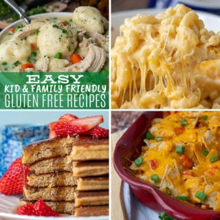a collage of gluten free recipes for kids