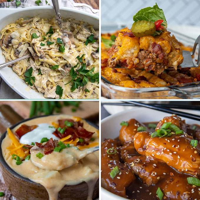 a collage of images of gluten free dinner recipes for kids