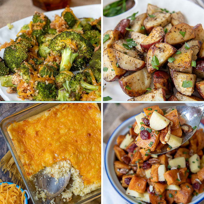 a collage gluten free side dish recipes
