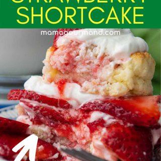gluten free strawberry shortcake pinterest pin