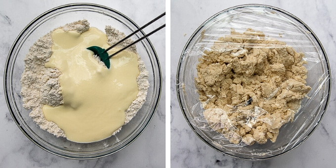 more images showing how to make gluten free shortcake