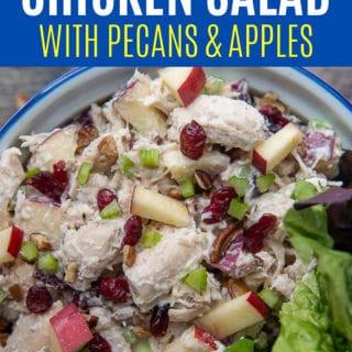 cranberry chicken salad pinterest pin
