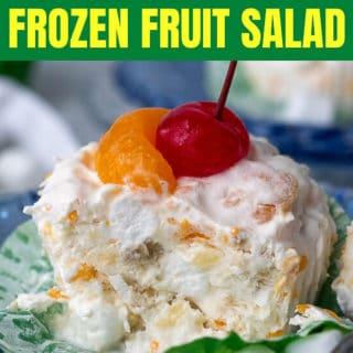 frozen fruit salad pinterest pin