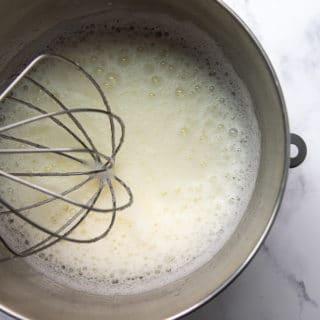 egg whites when foamy
