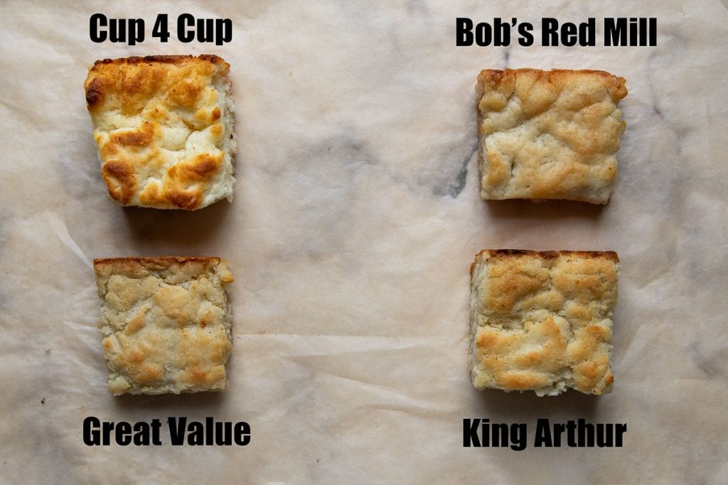 image of biscuits baked with different flour