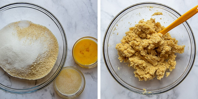images showing how to make almond pie crust