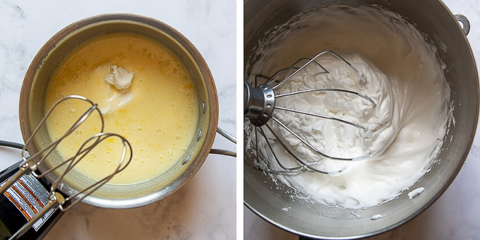 images showing how to make frozen lemon pie