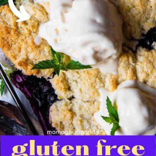 gluten free fruit cobbler pinterest pin