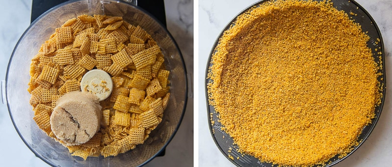 images showing how to make chex pie crust recipe
