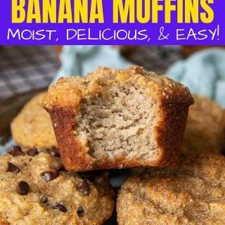 Almond Flour Banana Muffins pinterest pin