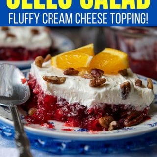 Raspberry Cranberry Jello Salad pinterest pin