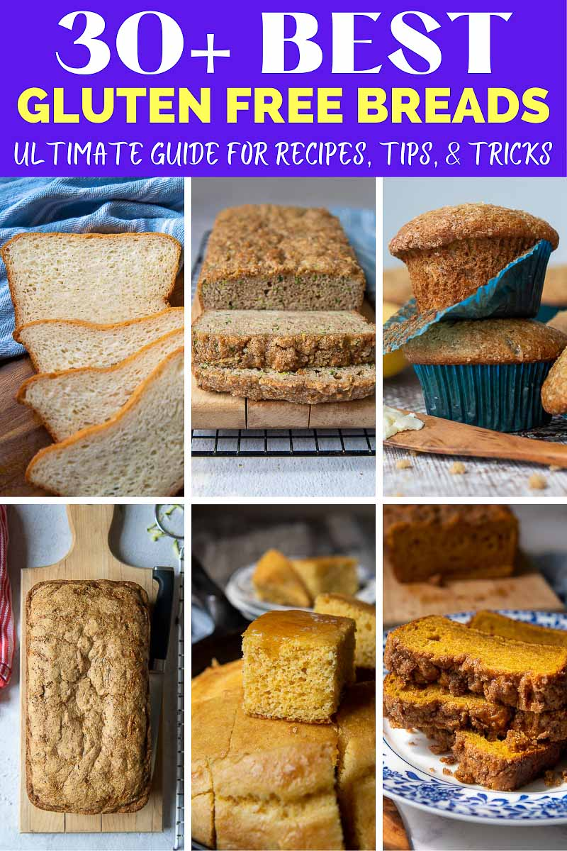 images showing different gluten free bread recipes