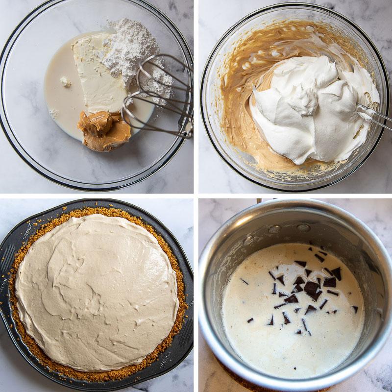 how to make chocolate peanut butter pie recipe
