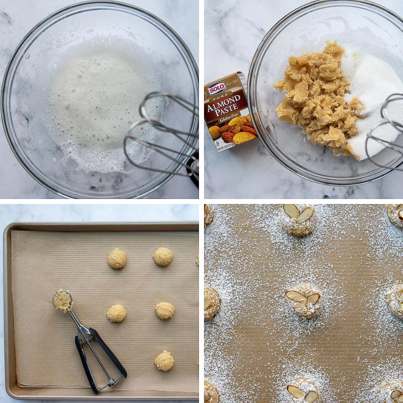 images showing how to make almond paste cookies