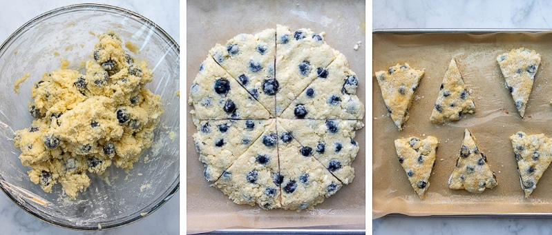 more images showing how to make gluten free scones