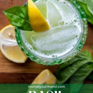 basil gin smash pinterest pin
