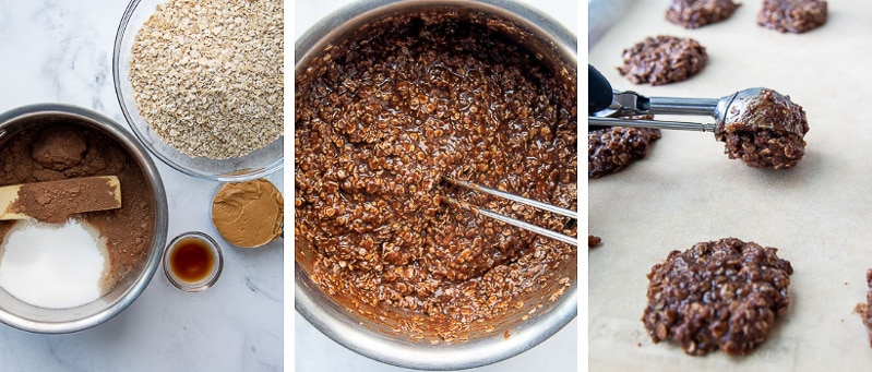 images showing how to make preacher cookies recipe