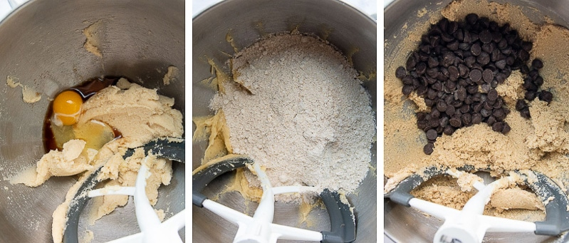 images showing how to make oat flour cookies