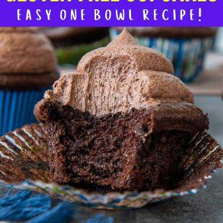 gluten free chocolate cupcake pin