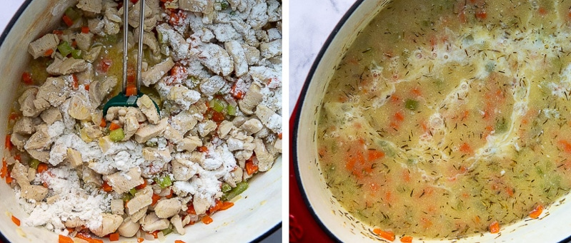 images showing how to make creamy chicken soup