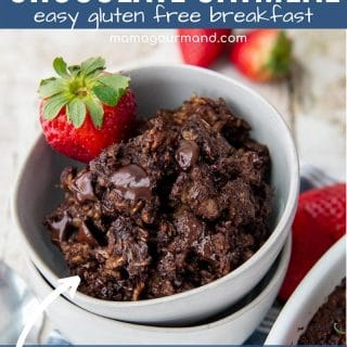 baked chocolate oatmeal pin