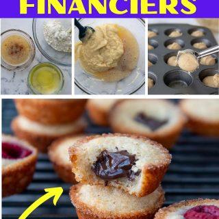 french almond financiers recipe pin