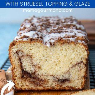 gluten free cinnamon bread recipe pin