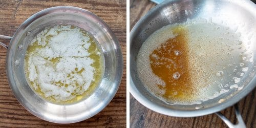 images showing how to make browned butter
