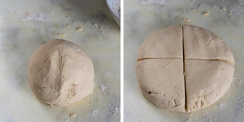images showing how to shape gnocchi dough