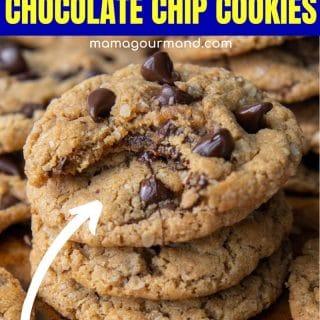 flourless chocolate chip peanut butter cookies pin