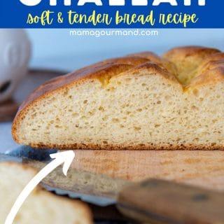 gluten free challah bread pin