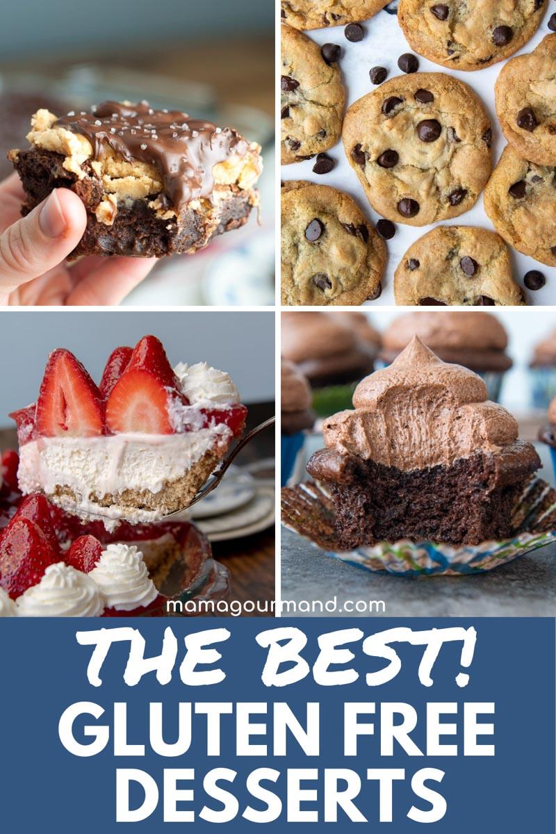 group of gluten free desserts