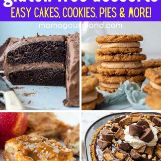 the best gluten free desserts image collage
