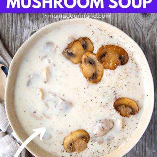 gluten free cream of mushroom soup pin