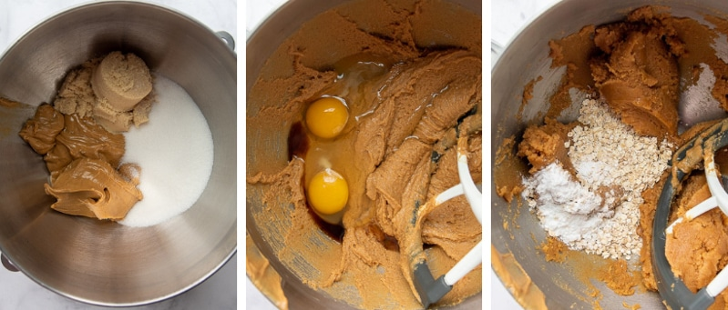 images showing how to make flourless chocolate chip cookies recipe