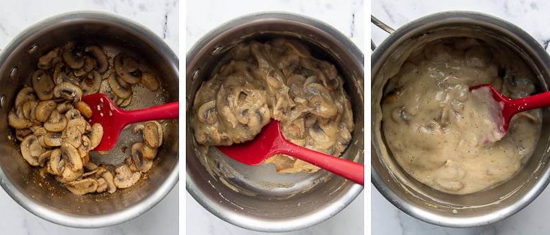 images showing how to make gluten free cream of mushroom soup