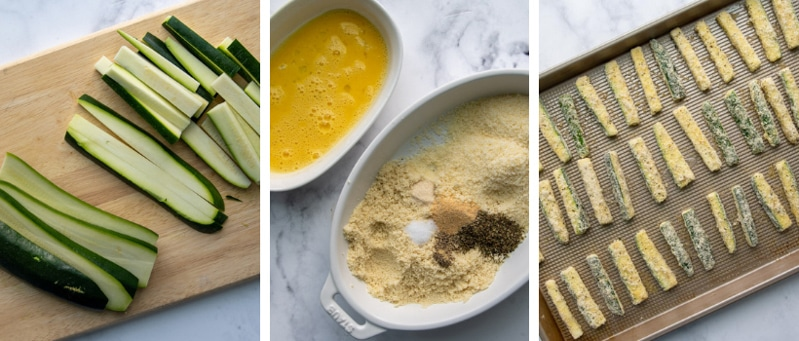 images showing how to make zucchini fries recipe
