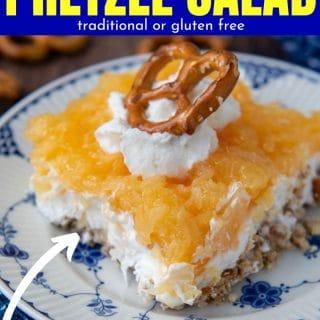 pineapple pretzel salad recipe pinterest pin