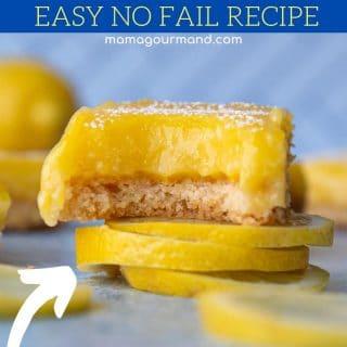 gluten free lemon bars pinterest pin