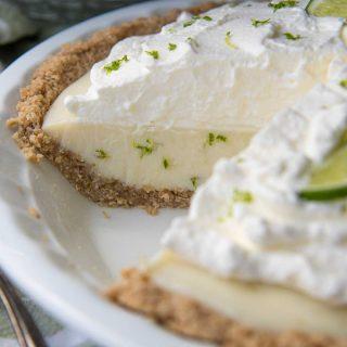 close up of a cut open pie