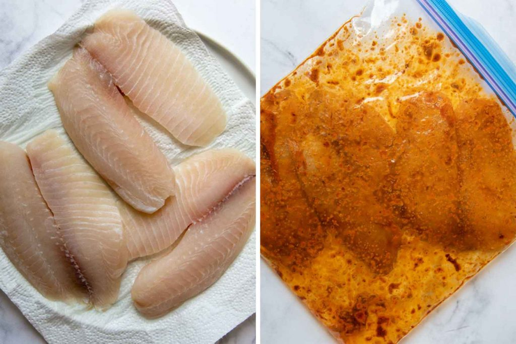 images showing how to make blackened seasoning for gluten free fish tacos