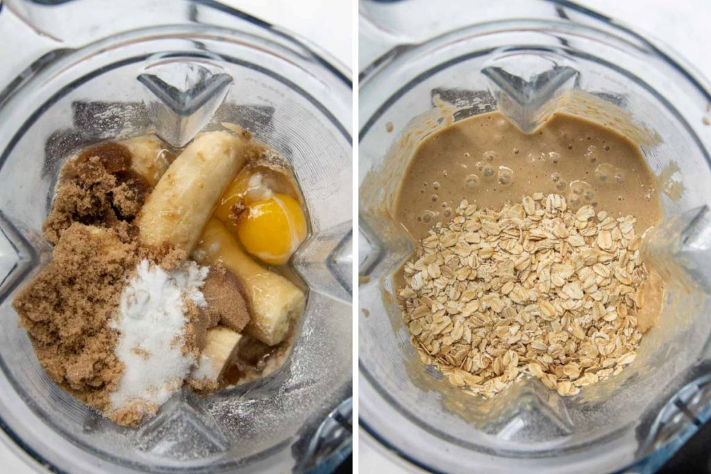 images showing how to make Oat Flour Banana Bread