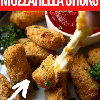 Gluten-Free Mozzarella Sticks pinterest pin