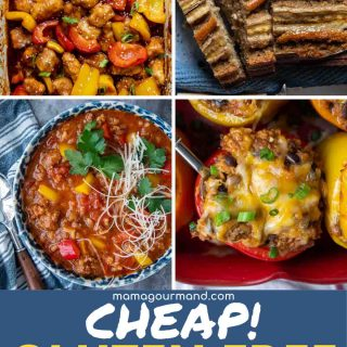 grid of different meals that are gluten free and cheap
