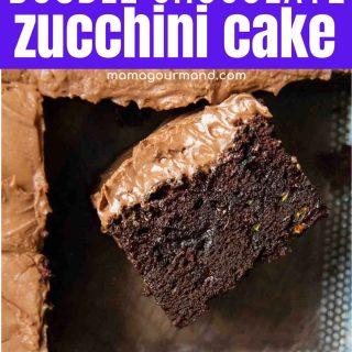 gluten free chocolate zucchini cake pin