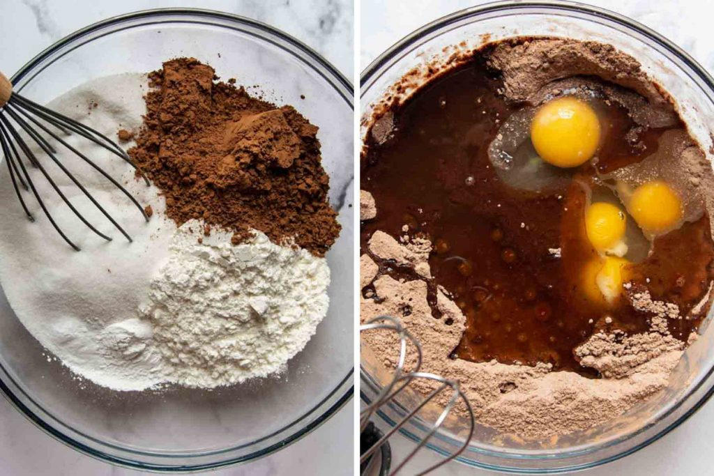 images showing how to make gluten free chocolate zucchini cake