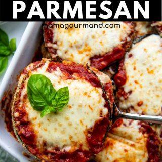 gluten-free eggplant parmesan pinterest pin