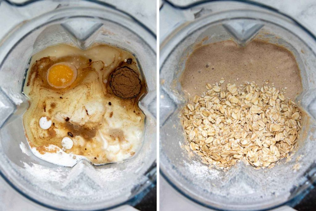 images showing how to make oat flour muffins