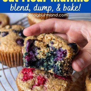 oat flour muffins pinterest pin